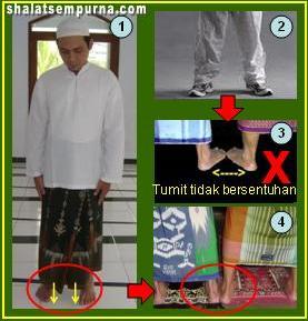 cara berdiri dalam shalat